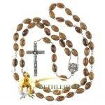 Olive Wood Chain Rosary-11