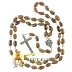 Olive Wood Chain Rosary-11-back