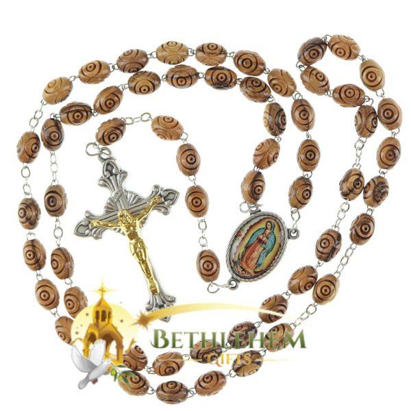 Olive Wood Chain Rosary-12