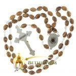 Olive Wood Chain Rosary-12-back