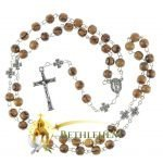 Olive Wood Chain Rosary-13