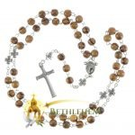 Olive Wood Chain Rosary-13-back