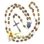 Olive Wood Chain Rosary-14