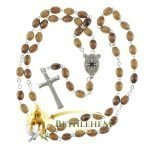 Olive Wood Chain Rosary-14-back