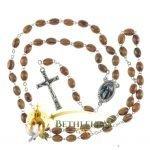 Olive Wood Chain Rosary-15