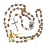 Olive Wood Chain Rosary-15-back