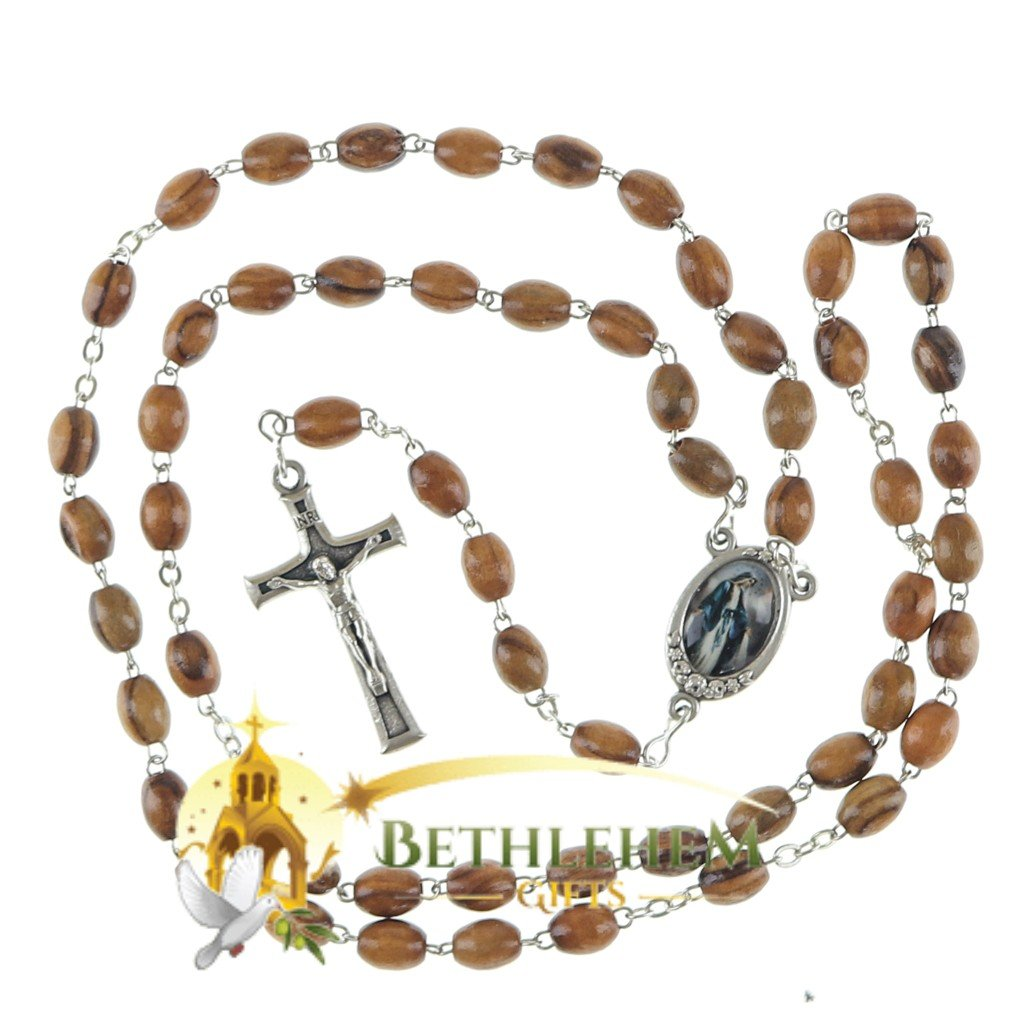 Olive Wood Chain Rosary-15