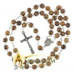 Olive Wood Chain Rosary-16