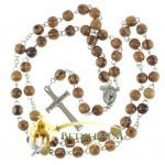 Olive Wood Chain Rosary-16-back