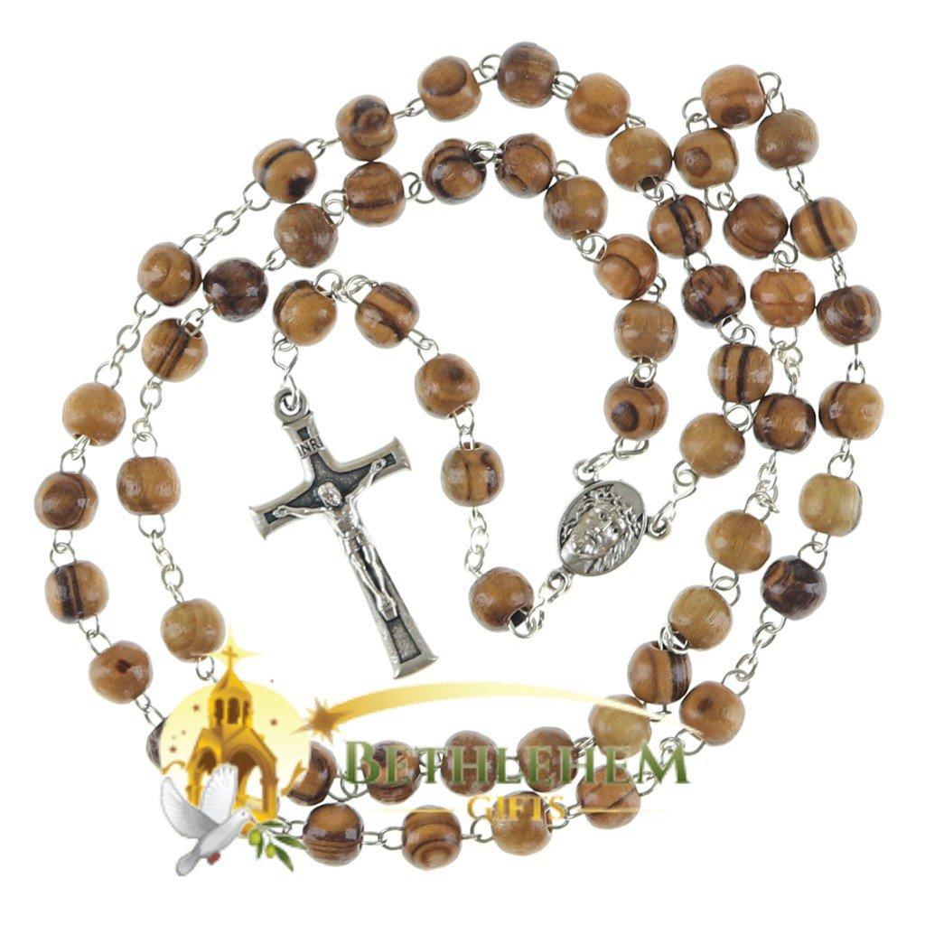 Olive Wood Chain Rosary-16