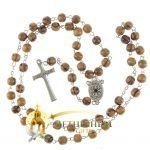 Olive Wood Chain Rosary-17-back