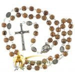 Olive Wood Chain Rosary-18