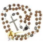 Olive Wood Chain Rosary-18-back