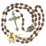 Olive Wood Chain Rosary-23