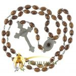 Olive Wood Chain Rosary-23-back