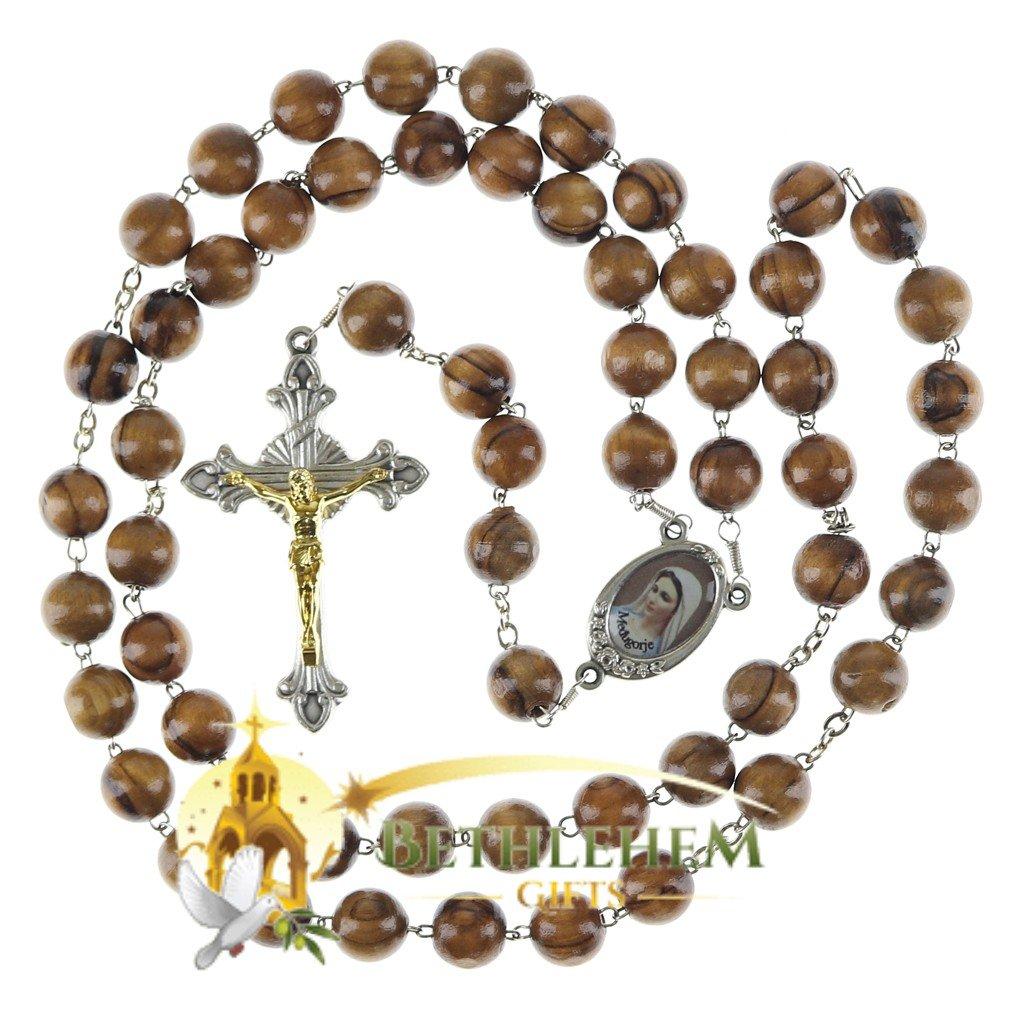 Olive Wood Chain Rosary-24