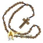 Olive Wood Cord Rosary-02