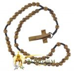 Olive Wood Cord Rosary-02-back
