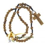 Olive Wood Cord Rosary-03