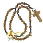 Olive Wood Cord Rosary-03-back