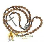 Olive Wood Cord Rosary-09