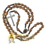 Olive Wood Cord Rosary-09-back