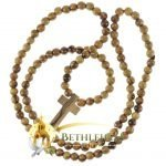 Olive Wood Cord Rosary-10-back