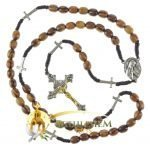 Olive Wood Cord Rosary-20
