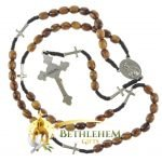 Olive Wood Cord Rosary-20-back