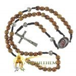 Olive Wood Cord Rosary-28