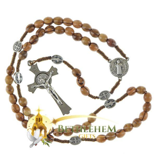 Saint Benedict Cord Rosary-01