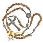 Saint Benedict Cord Rosary-01-back