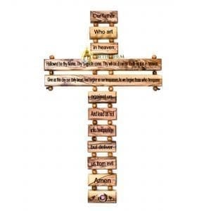The Lord's Prayer Cross Medium from Bethlehem