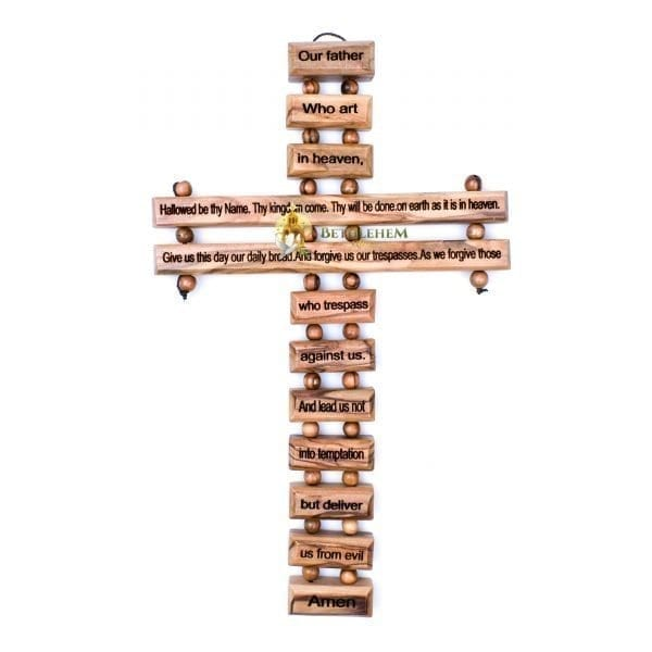 The Lord's Prayer Cross Small from Bethlehem