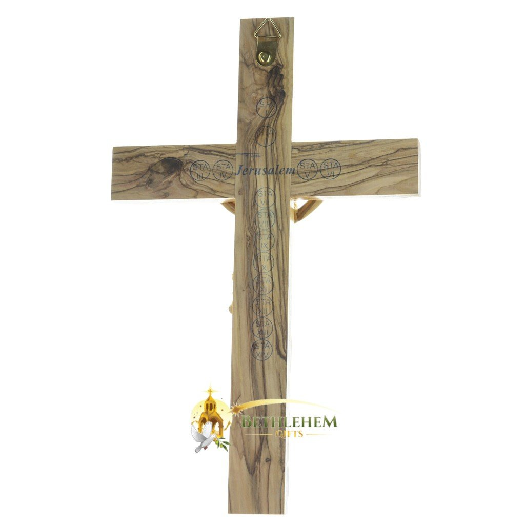 Wooden Large Latin Crucifix-back