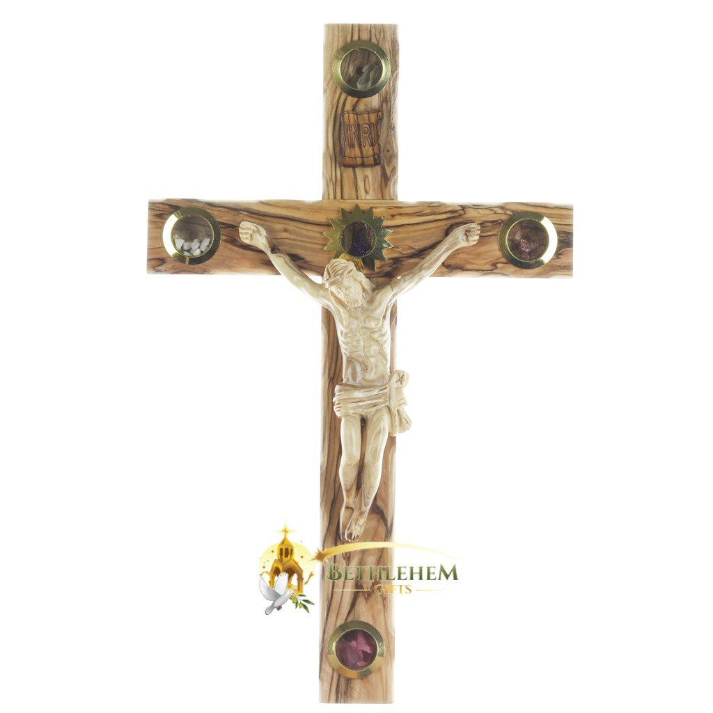 Wooden Large Latin Crucifix