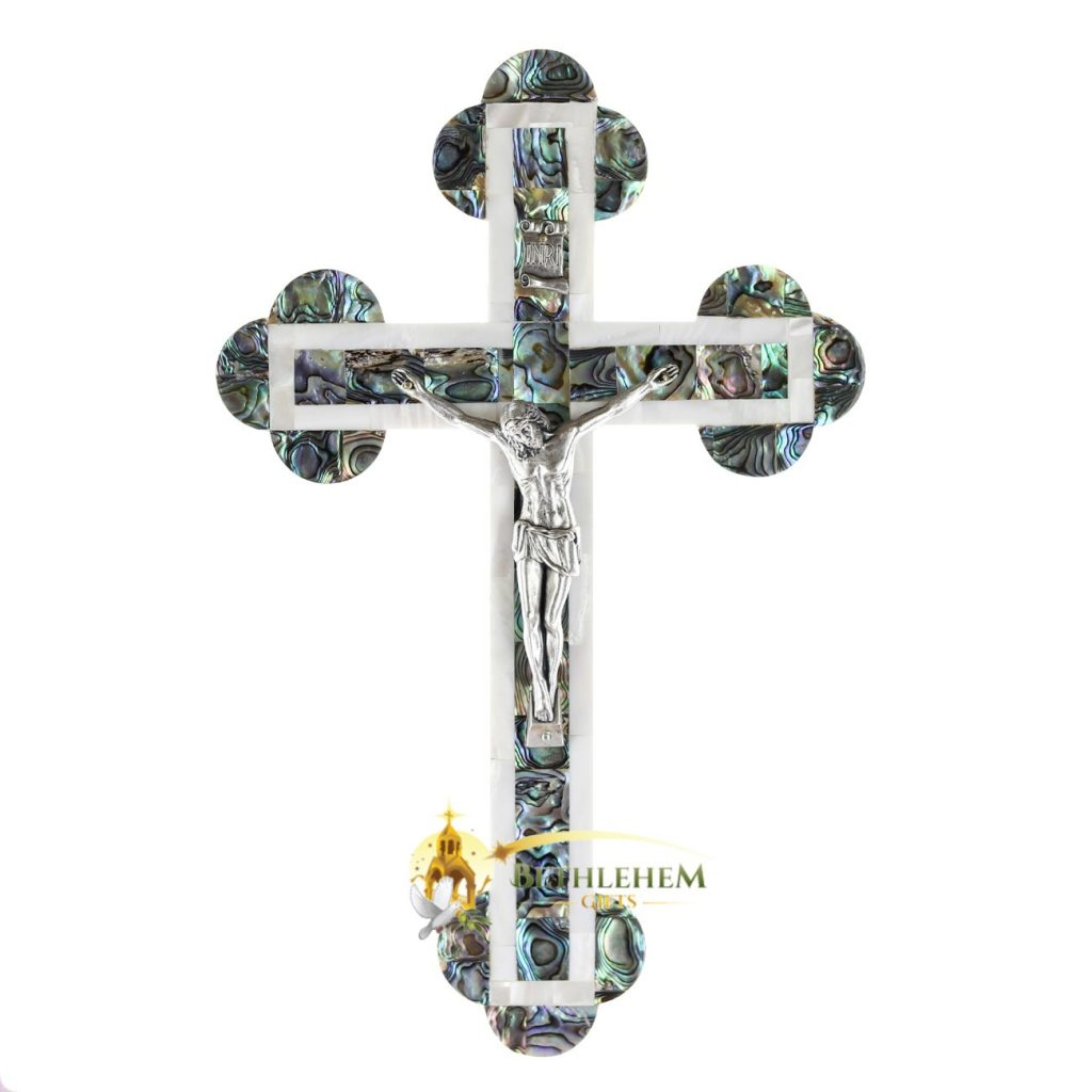 Mother of Pearl Large Budded Crucifix
