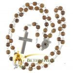 Olive Wood Chain Rosary-09-back