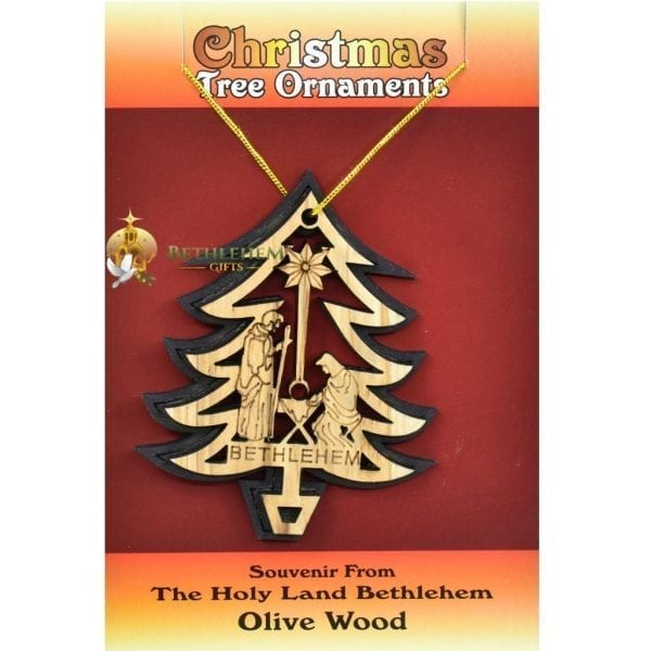 Wooden Christmas Tree Ornament Laser 25