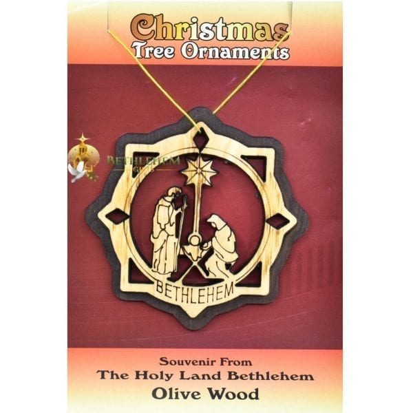 Wooden Christmas Tree Ornament laser-26