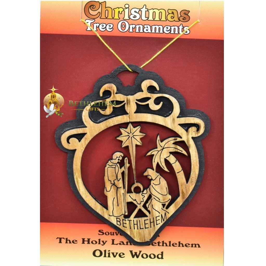 Wooden Christmas Tree Ornament laser-28