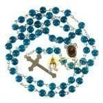 Blue Stone Rosary-back