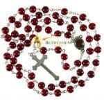 Red Stone Rosary-back