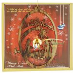 Bethlehem Olive Wood Christmas Ornament-package