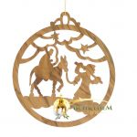 Handcrafted Olive Wood Christmas Ornament-7