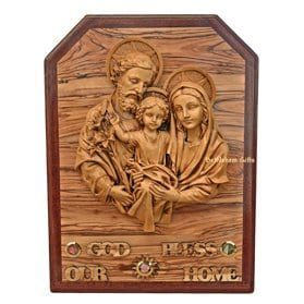 Holy Family God Bless Our Home-A